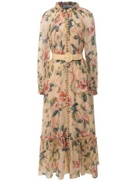 Платье миди облегающее на пуговицах Zimmermann