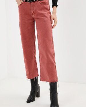 Прямые джинсы розовый Sela