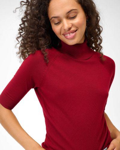 Czerwony sweter dzianinowy Orsay