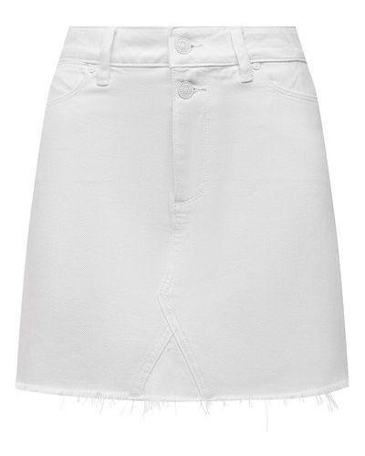 Джинсовая юбка - белая Paige