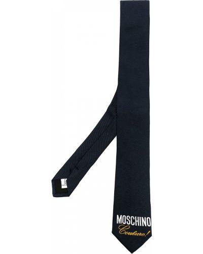 Синяя шелковая резинка для волос Moschino