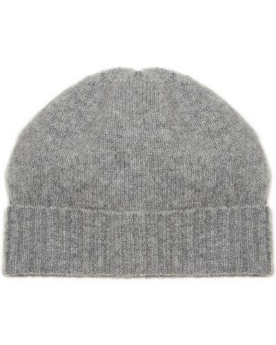 Вязаная шапка с отворотом теплая Allude