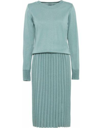 Плиссированное вязаное платье Bonprix