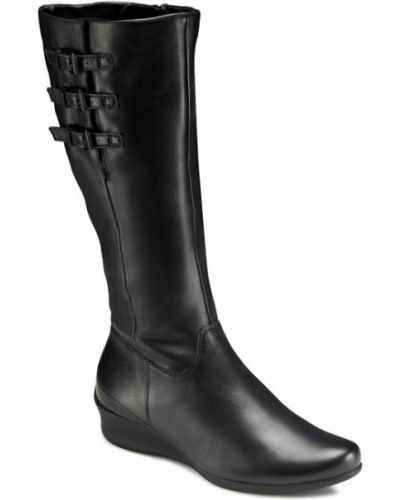 Ботинки на платформе осенние черные Ecco