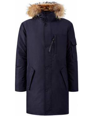 Куртка с капюшоном синяя Cudgi