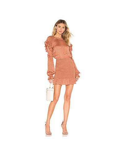 Платье мини с бахромой из вискозы Tularosa