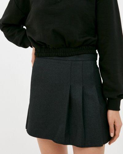 Серая прямая юбка карандаш Trendyol