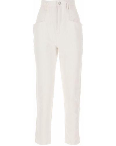 Spodni z wysokim stanem jeansy z kieszeniami Isabel Marant