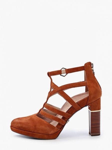 Коричневые кожаные туфли из натуральной кожи Heart & Sole By Tamaris