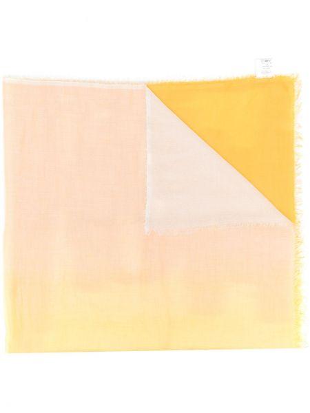 Желтый шелковый шарф Faliero Sarti