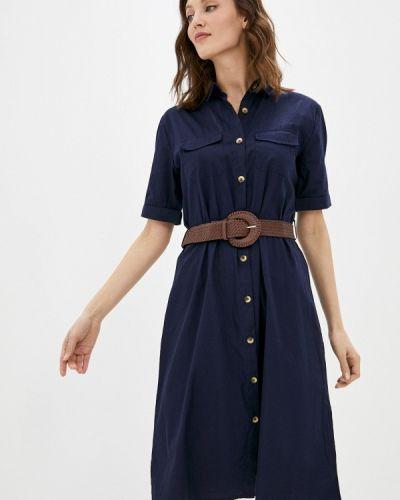 Синее платье-рубашка Incity