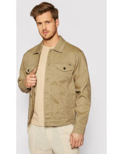 Brązowa kurtka jeansowa Only & Sons