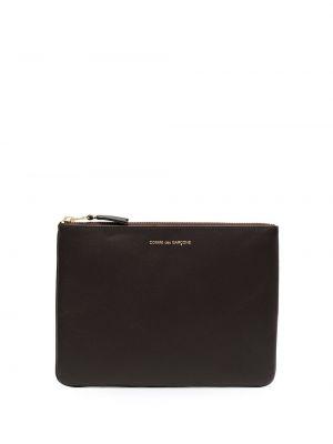 Черный кожаный кошелек на молнии Comme Des Garçons Wallet