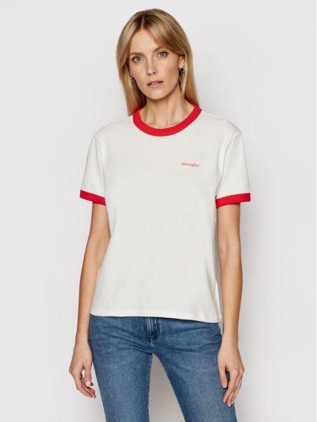 Biały t-shirt Wrangler