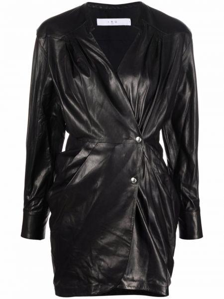 Шелковое платье макси - черное Iro