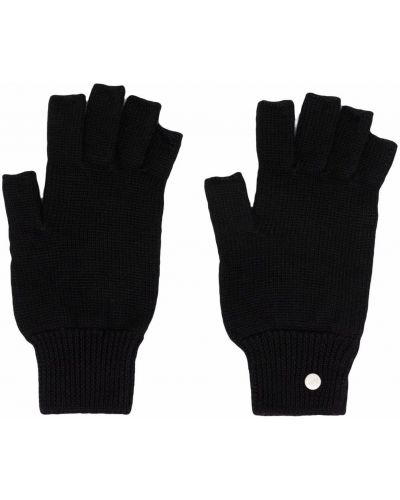 Czarne z kaszmiru rękawiczki Rick Owens Drkshdw