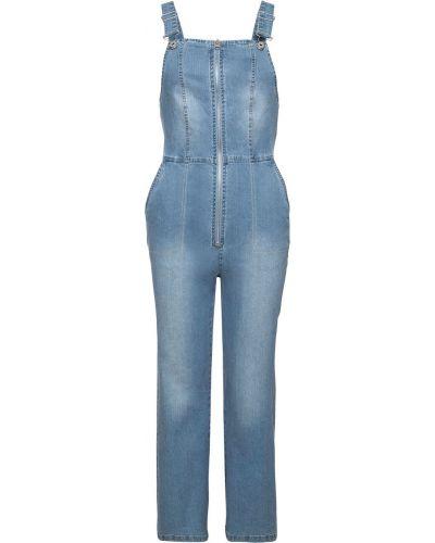 Синий джинсовый комбинезон на молнии Bonprix