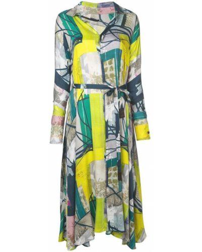 Платье миди платье-рубашка с абстрактным принтом Divka