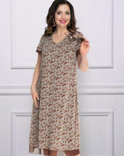 Летнее платье с цветочным принтом платье-сарафан Modeleani