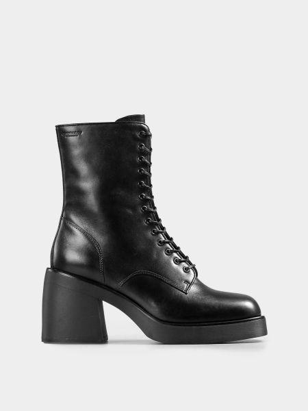 Кожаные сапоги - черные Vagabond
