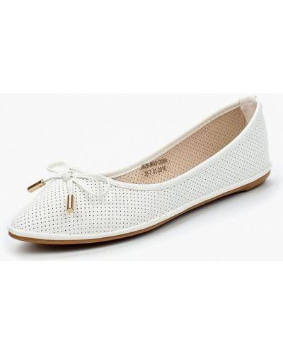 Белые балетки кожаные Avenir