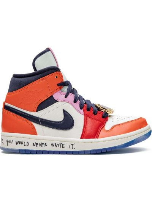 Кожаные белые кроссовки на шнуровке Jordan