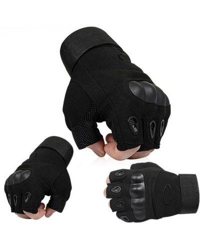 Кожаные перчатки - черные Oakley