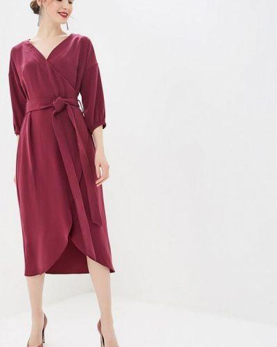 Платье бордовый с запахом Elena Kulikova