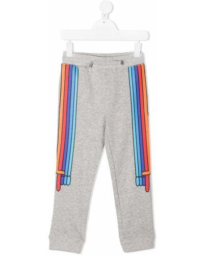 Prążkowane spodnie bawełniane Stella Mccartney Kids