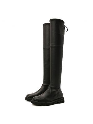 Черные кожаные сапоги Stuart Weitzman