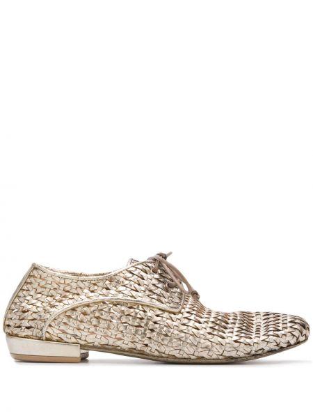 Туфли на каблуке на низком каблуке на шнуровке Marsèll