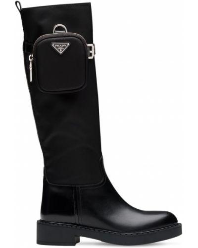Ботильоны на каблуке - черные Prada
