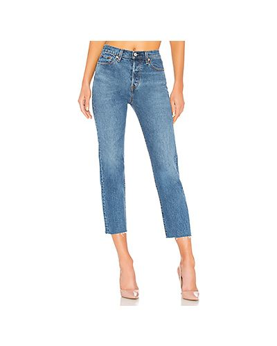 Прямые джинсы синие с эффектом потертости Levi's®