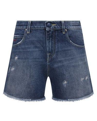 Хлопковые синие джинсовые шорты Jacob Cohen