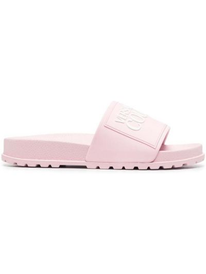 Резиновые шлепанцы - розовые Versace Jeans Couture