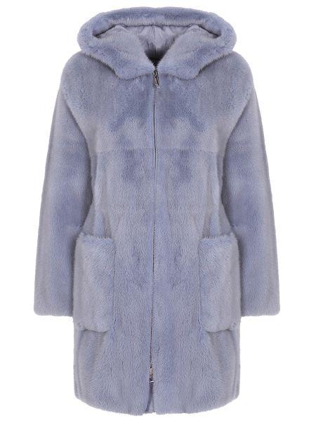 Расклешенное пальто с капюшоном на молнии с накладными карманами айвори Manzoni 24