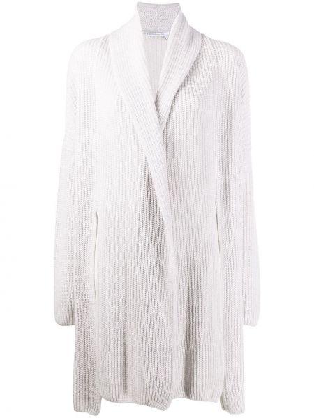 Серое кашемировое пальто оверсайз Agnona