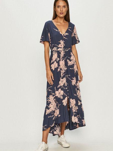 Расклешенное платье с поясом с вырезом Roxy