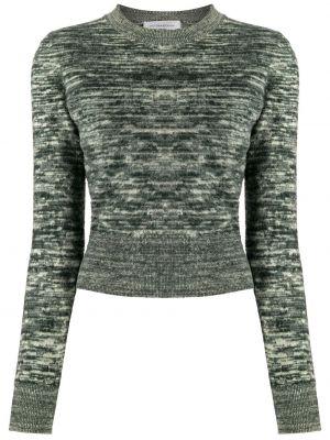 Зеленый длинный свитер с вырезом круглый Victoria Beckham