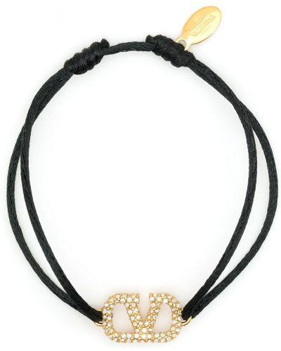 Czarna złota bransoletka Valentino Garavani