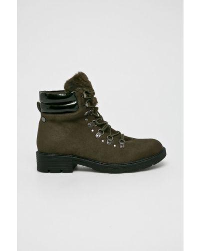 Кожаные сапоги на каблуке на шнуровке Xti
