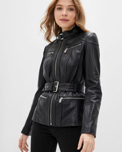 Черная кожаная куртка снежная королева