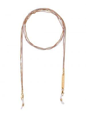 Золотистая желтая цепочка металлическая позолоченная Frame Chain