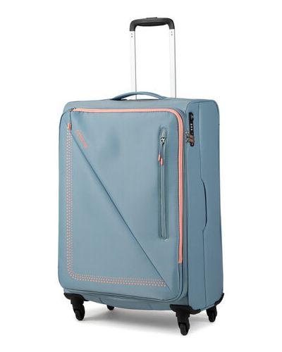 Niebieska walizka średnia materiałowa American Tourister