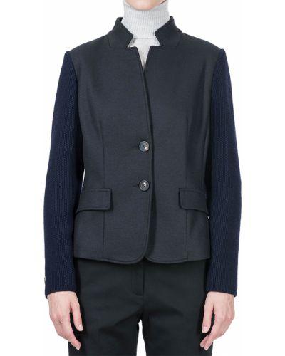 Пиджак шерстяной синий Peserico