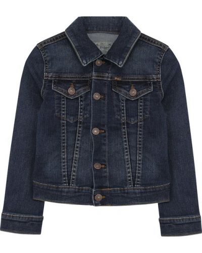 Джинсовая куртка из полиэстера с карманами Polo Ralph Lauren
