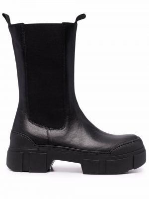 Ботильоны на каблуке - черные Vic Matie