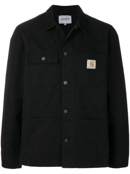 Czarna koszula bawełniana na co dzień Carhartt