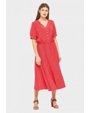 Повседневное платье красный весеннее Danna
