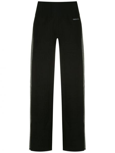Черные прямые спортивные брюки с поясом из вискозы Track & Field